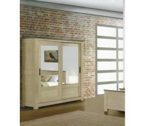 W Armoire 2 portes coulissantes L200 H208 P64 cm ou L160 H208 P64cm