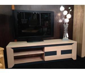 Meuble TV 1 porte coulissante L150 H42.5 P45cm