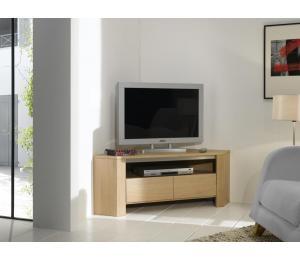 Y Meuble TV D'angle 1 tiroir 1 niche L120 H45 P65cm