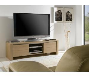 Y Meuble TV 2 portes 1 niche L150 H45 P45 cm