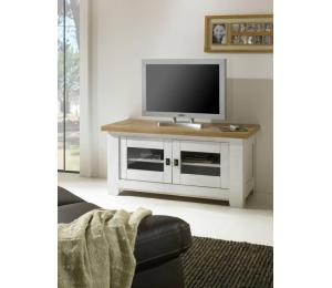 W Meuble TV 2 portes L123 H59 P54 cm