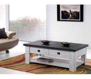 W Table basse 1 tiroir 120x67 H43cm