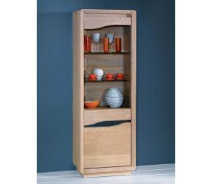 C Colonne 1porte bois et céramique L61 H180 P40cm