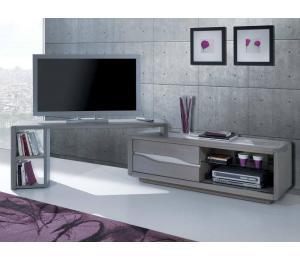 C Possibilité d'ajouter un support TV mobile L145 H61 P35 cm
