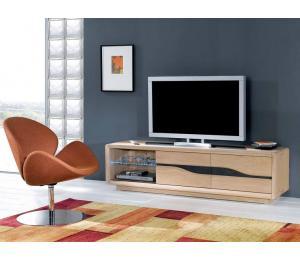 C Meuble TV L180 H48 P45cm