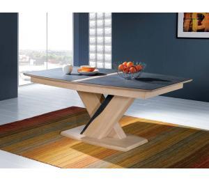 C Table tonneau 180x105cm 3 allonges plateau céramique ou bois au choix
