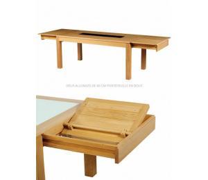 Table CURCUMA rectangulaire avec allonges.
