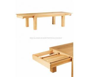 Table BAOBAB rectangulaire avec allonges.