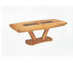 Table C 220x110cm 4 allonges de 40cm rangées sous le plateau