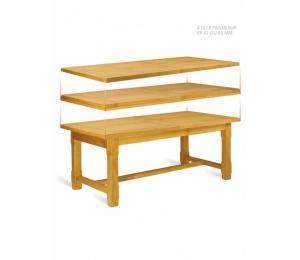 Table de ferme à panneaux. Plusieurs dimensions possibles. + 2 allonges de 50 cm rangées dans la table.