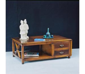 O Table de salon 630  Dessus coulissant avec un volet 2 tiroirs L110 P70 H43cm (avec volet 145cm)