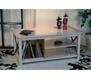 O Table de salon 380 avec 3 casiers L110 P56.5 H47.5cm