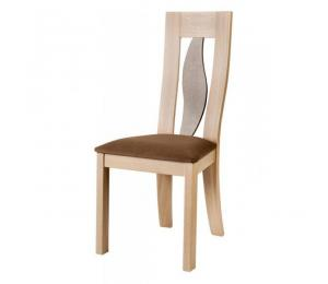 Chaise 1630. Hauteur 102 cm. Assise garnie. Palmette bois.  (Possibilité assise bois).