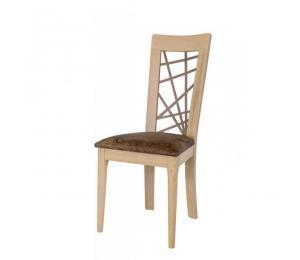 Chaise 1663. Hauteur 103 cm. Assise garnie. Pieds arrondis. (Possibilité assise bois).