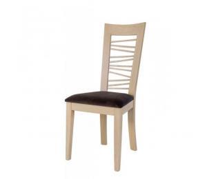 Chaise 1654. Hauteur 103 cm. Assise garnie. (Possibilité assise bois).