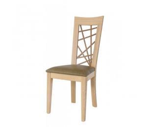 Chaise 1653. Hauteur 103 cm. Assise garnie. (Possibilité assise bois).