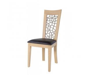 Chaise 1652. Hauteur 103 cm. Assise garnie. (Possibilité assise bois).