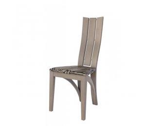Chaise 1460 ARC. Hauteur 101.5 cm. Assise garnie. Palmette bois. (Possibilité assise bois)