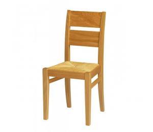 Chaise 1300. Hauteur 90 cm. Assise paillée.