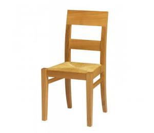 Chaise 1310. Hauteur 89.5 cm. Assise paillée.