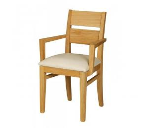 Fauteuil 1304 assise garnie. (Se réalise en assise bois ou paillée).