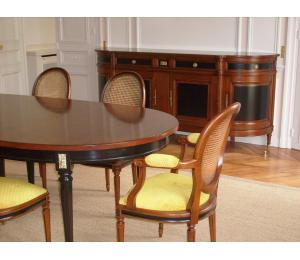 Salle à manger Louis XVI bicolore