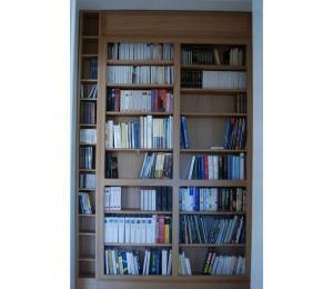 Face arrière de la bibliothèque encastrée
