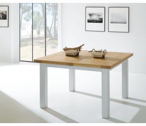 R Table carrée 125x125cm  + 1 allonge portefeuille de 56cm