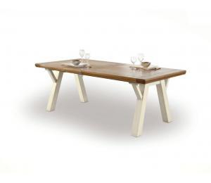 R Table rectangulaire tréteaux L210x100 + 1 allonge portefeuille de 95cm
