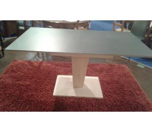 Table K dessus céramique socle et colonne en chêne 160x100cm + 1 allonge portefeuille de 49cm 2193€  net TTC + 5.30€ d'éco-participation (le modèle exposé)