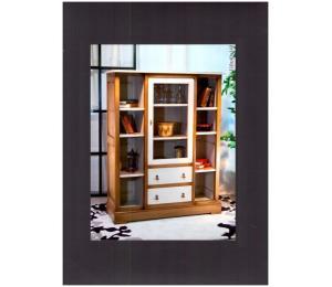 Bibliothèque 234 / 1 porte, 2 tiroirs, tablettes L110 P40 H140cm