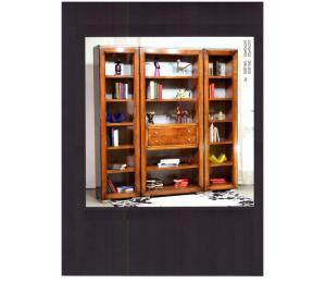 Bibliothèque ouverte, tablettes et tiroirs  860+861x2 L205 P40 H210cm