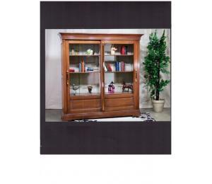 Bibliothèque 640 / 2 portes coulissantes, 6 tablettes L195 P48 H195cm