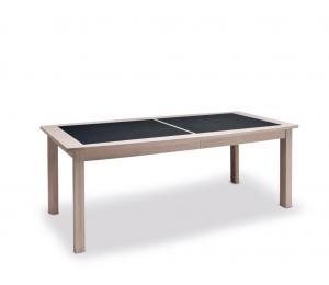 B Table 4 pieds 170x107cm +2 allonges portefeuille de 46cm ou 200x107cm +2 allonges portefeuille de 65cm dessus et allonges céramique