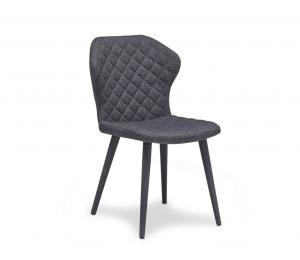 B Chaise tissu gris foncé