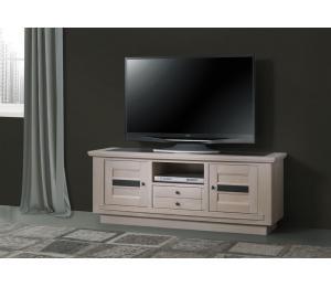 B Meuble TV  2 portes 1 tiroir 1 niche L160 H61 P45cm