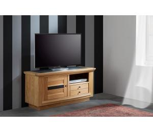 B Meuble TV  1 porte 1 tiroir 1 niche L124 H61 P45cm