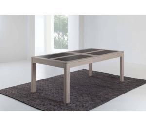 D Table 4 pieds L170x100cm + 1 allonge portefeuille de 60cm ou L200x100cm +1 allonge portefeuille de 93cm