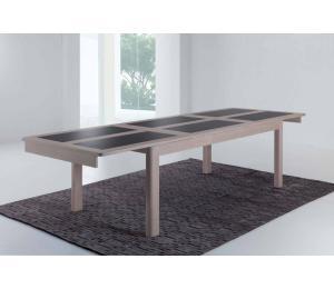 D table 4 pieds L170x100cm ou L200x100cm avec allonges