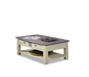 M Table basse dinette L105 H40 P63cm plateau relevant