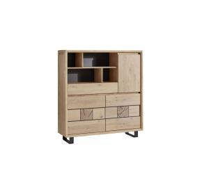 E Meuble Haut 3 portes, 1 tiroir, 1 niche L140 H150 P42cm