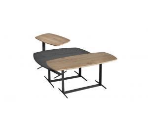 E Lot de 3 tables basses gigognes (peuvent être vendues séparément)
