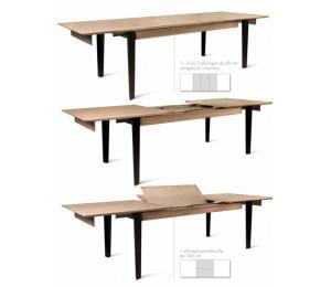 Table ZAMAK avec allonges