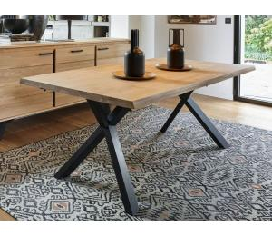 Table 160/180/200/220/240x105cm possibilité 2 allonges de 40 cm à chaque bout (non rangées)