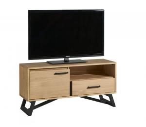 Meuble TV 1 porte, 1 tiroir, 1 niche L124 H60 P42cm