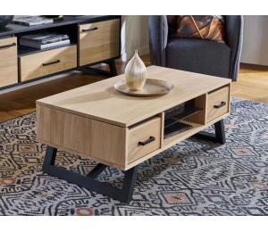 Table basse dinette 2 coffres, 1 niche L110 H42 P60cm