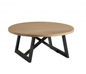 Table basse ronde diamètre 90cm (L90 H38 P90)