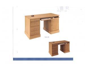 Bureau ministre 2 tiroirs +1 tiroir pour dossiers suspendus en bas L140 P65 H78.5cm