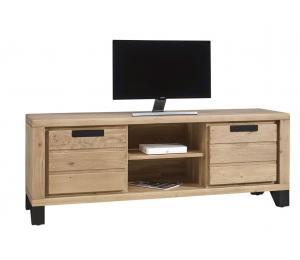 Meuble TV 2 portes, 1 niche L160 H60 P42cm