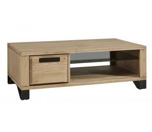 Table basse 1 tiroir va et vient L120 H42 P67cm